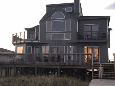 Photo for Contemporary Oceanfront Home  ~  Topsail Beach, NC