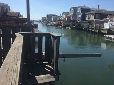 Photo for Large Canal-front 3 bedroom family-friendly house by Rockaway Beach hot spots