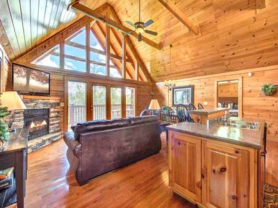 Photo for Eagles Point Lodge, 4 Bedrooms, Sleeps 16, View, Pool Access, Game Room