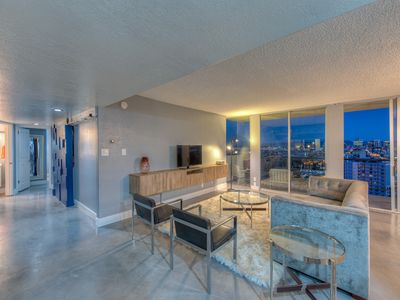 Photo for WOW: Penthouse views in the arts district right off light rail= WOW!