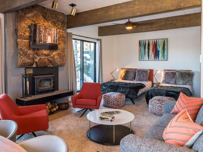 Photo for Chic Slopeside Condo | Walk In/Ski Out | Amenities! | Newly Renovated