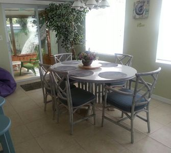 BeachWalk House dining room and porch