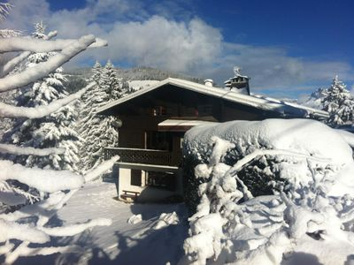 Photo for Megève family Chalet 4 Beds / 8p comfortable, charming, garage, Rochebrune