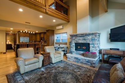 Cozy up with the wood burning fireplace and enjoy a movie after a fun day out
