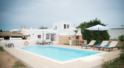 Photo for Cana Xuia. Typical Ibizan house with pool, BBQ and wifi.