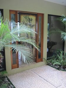Front entrance through the hanging beads