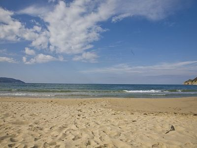 Photo for t few meters from the beautiful sandy beach of Biodola, three-room apartment for 2/4 persons