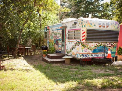 Photo for ArtV @ Casa Luna Llena Bohemian Glamping in the forrest!