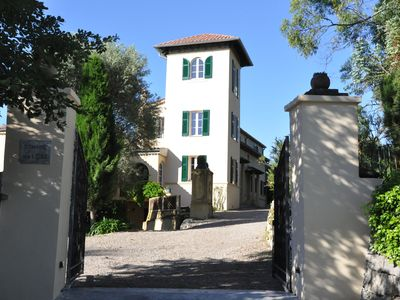 Photo for Luxury 19th century villa, large Swimming pool, 2ha gardens - 15min Nice Airport