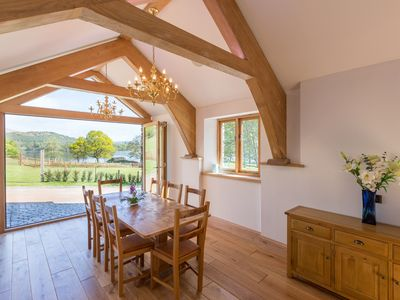 Photo for The Great Barn sleeps 8 in luxury accommodation with lakeside views. Concierge services available.