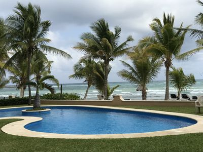 Photo for Beachfront, Poolside, Kayaks,Wifi, Cable, Low Rates, Ocean View,