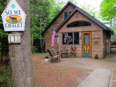 Photo for Classic Adirondack Chalet on Moose River -Summer weekly rentals only Sat. to Sat