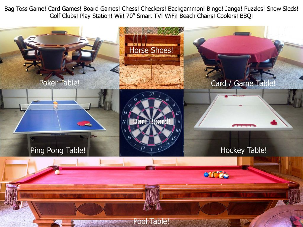 Star Luxury Tahoe Cabin Great Location HomeAway Christmas - Billiards ping pong table