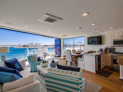 Photo for Unmatched WATERFRONT PENTHOUSE w/ Sweeping Water Views, Central AC, Garage, BBQ!
