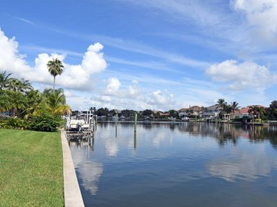 Photo for 4 Bedroom Waterfront Heated Pool Home with Beach, Dock and ocean access