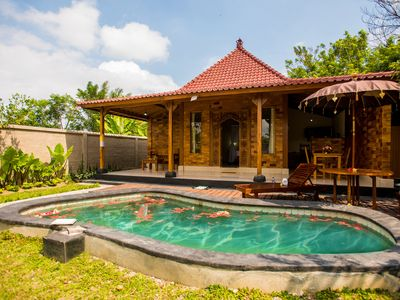 Photo for Classic wooden villa My Way & the private pool