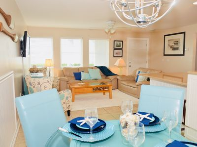 Photo for Stunning Waterfront Groundfloor Unit with Boat Slip and Coastal Decor