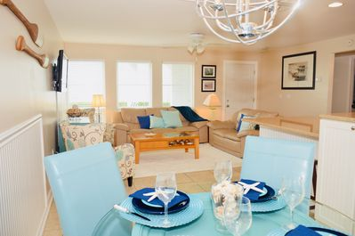 Coastal décor with waterfront view