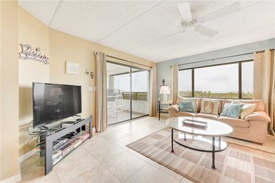 Welcome to this bright, airy, well-furnished ocean-view condo! - There's room for everyone to gather in the living room for games, TV, or to watch the beautiful sunrises!