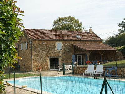 Photo for Spacious Holiday Home in Besse with Swimming Pool