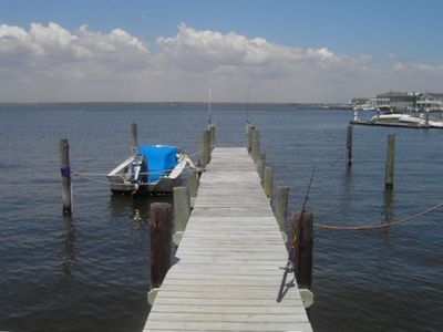 Dock with boat slip