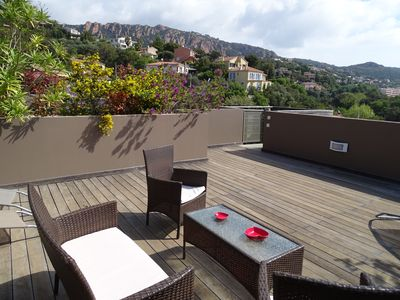 Photo for 2 rooms near beach and shops with private roof terrace