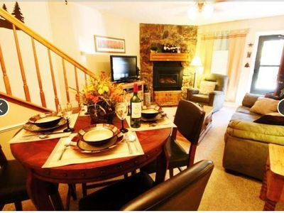 Photo for Valley Condo #111 - Fiber optic high speed WiFi, Washer/Dryer, Gas Fireplace, Community Hot Tubs, Pl