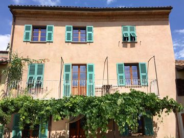Sunny courtyard with panoramic views of the historic village center. For sole use