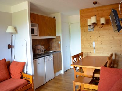 Photo for Belle-Plagne, Studio Divisible 4/5 pers, at the foot of the slopes Classified 2 * Paradisky