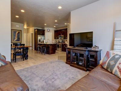 Photo for NEW LISTING! Modern townhome w/shared pool and hot tub, near parks and trails!
