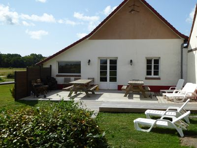 Photo for Residence 7 rooms, 20 people, marquenterre bay of sum, 5 mins beach.