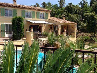 Photo for Beautifully, in the hills of historic Vence Villa with private pool and airco