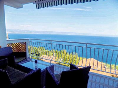 Photo for One bedroom apartment with terrace and sea view Mošćenice (Opatija)