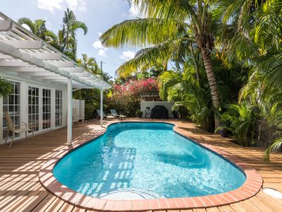 Photo for Tropical Retreat with Private Heated Pool: 5 star reviews: Book YOUR month