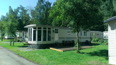 Photo for Luxury mobile home at famous Carpodrôme campsite