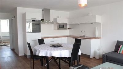 Photo for Renovated apartment in the center of Larmor-Plage