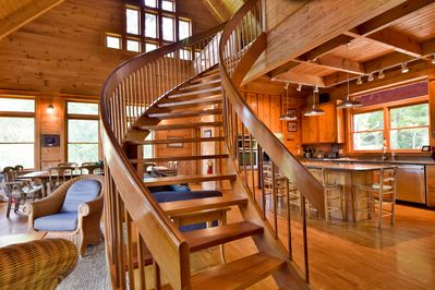 Enjoy the stunning interior design and woodwork of The Toccoa House