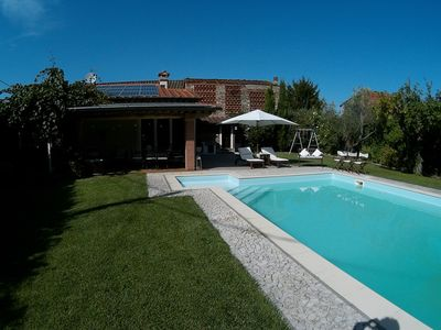 Photo for The newly built BEPPE GARDEN annex with swimming pool and spa.