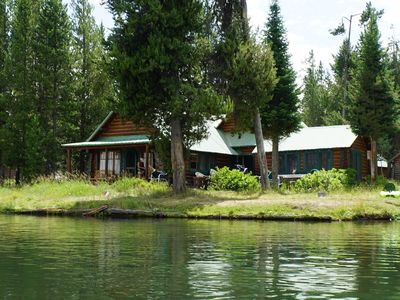 Photo for Mountain Cabin on Snake River, 2 wooded acres 20 miles from Yellowstone