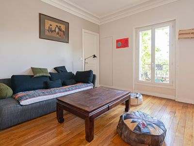Photo for Charming 2BR Apt near Buttes aux Cailles