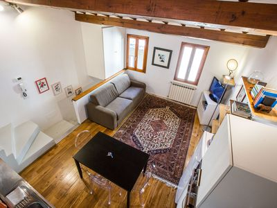 Photo for Bohémienne Penthouse in Santa Croce, Florence centre, Wi-Fi, Washers, AC