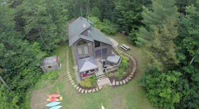 Photo for Waterfront Adirondack Chalet with Hot Tub, Sauna & Great Views of Whiteface