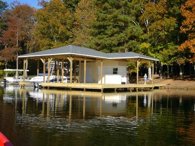 Swim, wakeboard, ski and fish from boat house