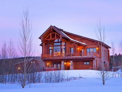 """Photo for USE PROMO CODE """"10 Off"""" - 4 Bedroom Luxury Log Cabin - Close to Jackson Hole!"""