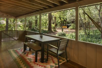 Front Porch with dining table
