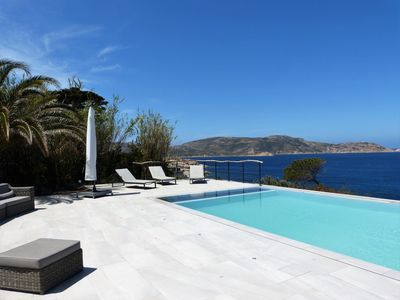 Photo for Villa Calvi, 100 m seaside, 800 m Cité, 235m², heated swimming pool