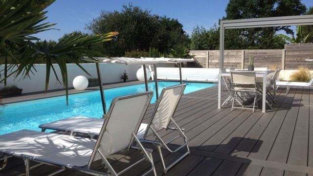 Villa contemporaine la baule piscine chauffee loire for Piscine la baule