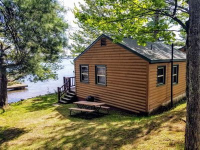 Photo for Cozy 2 bedroom lakeside cabin with beautiful view of Lake Minocqua