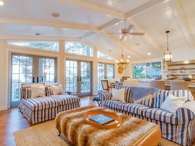 Photo for Elegant home with game room, gourmet kitchen, & deck with ocean view
