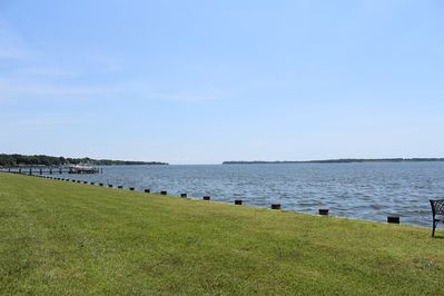 Looking East at the mouth of the Patuxent River and the Chesapeake Bay